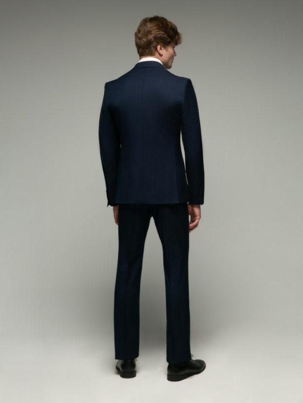 JOSEPH Мужской костюм темно-синий в полоску.