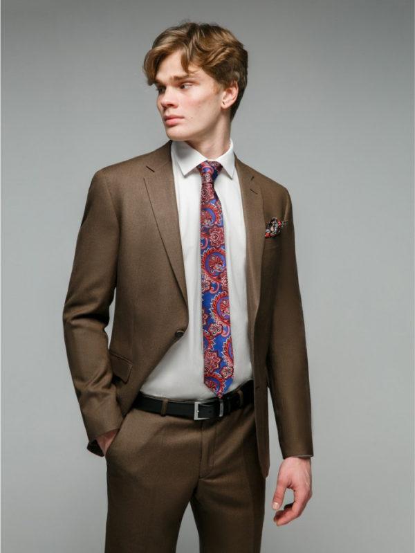KAUFMAN Мужской костюм коричневый.
