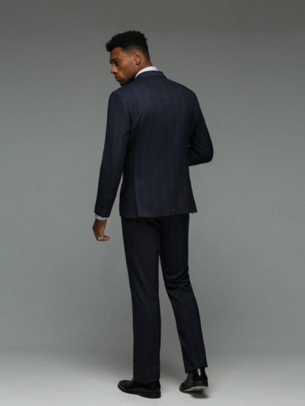 GILSON Мужской костюм серый в клетку.